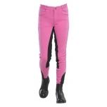 Laste ratsapüksid nahkadega / roosa