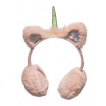 Pehmed soojad kõrvaklapid lastele / roosa ükssarvik