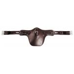 W-Profile nahast klapiga sadulavöö, reguleeritav 115-150cm / tumepruun