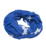Hobusepiltidega sall / royal sinine-valge