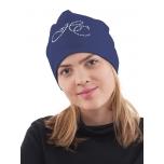 Puuvillane, sädeleva logoga Pipo müts / tumesinine