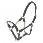 Cavo nööriga nahkpäitsed + jalutusnöör / pruun-tumesinine