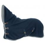 Luxus kaelaosaga villatekk / tumesinine 165cm